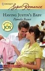 Having Justin's Baby (Large Print)