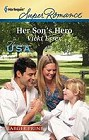 Her Son's Hero  (large print)