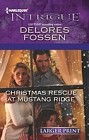 Christmas Rescue at Mustang Ridge  (large print)