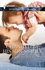 Changed by His Son's Smile  (large print)