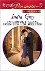 Powerful Italian, Penniless Housekeeper (Large Print)