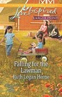 Falling for the Lawman  (large print)