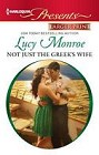 Not Just the Greek's Wife  (large print)
