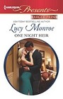 One Night Heir  (large print)