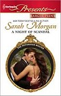 Night of Scandal, A  (large print)