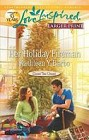 Her Holiday Fireman  (large print)
